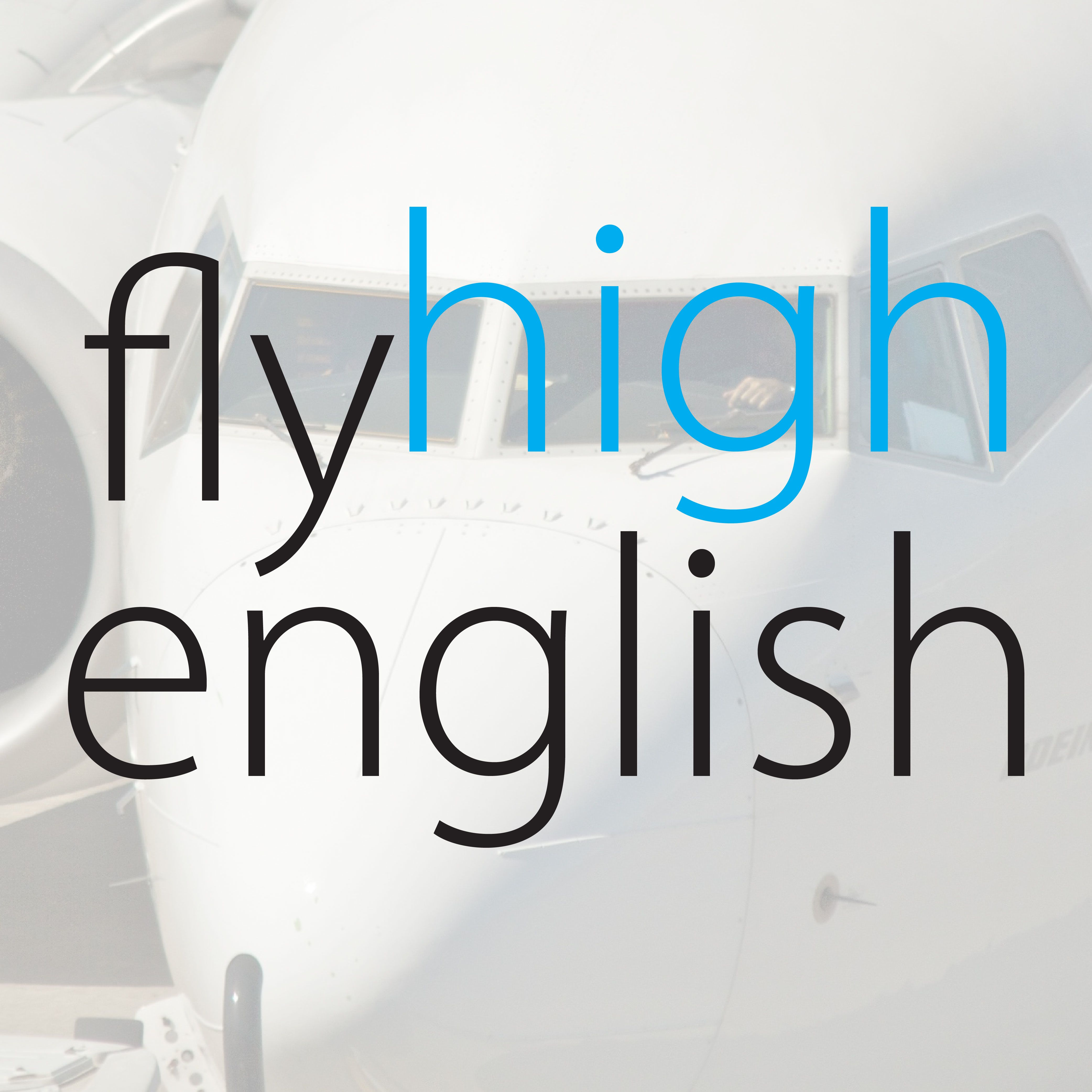 Fly High English logo.
